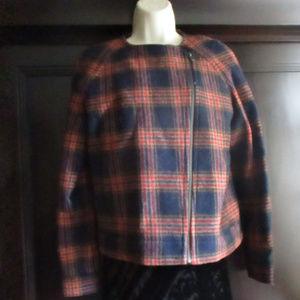Brooks Brothers Vintage Red Fleece Wool Jacket